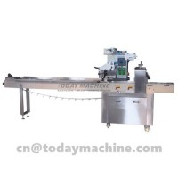 Automatic Chip Bread Packaging Equipment Flow Danish Pita Bread Wrapper