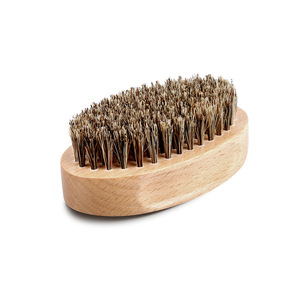 Best Small Boar Bristle Barber Brush Beard Shaving Beard Comb and Brush