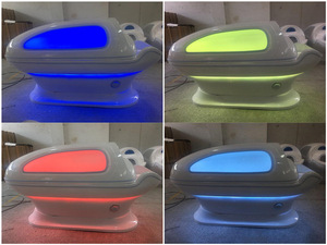 body sweating and detoxification body shaping led hot wet steam spa capsule