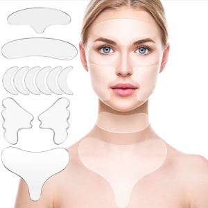 Breast chest anti wrinkle decollete pad cleavage wrinkles silicone chest pad reusable anti wrinkle breast sticker