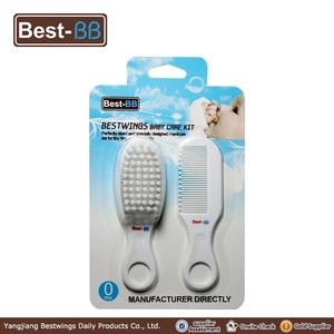 grooming kit for baby hairbrush and comb set with four color