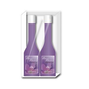 Pink Rose Bath Gift Set: Body Mist Spray Body Lotion Bath Products Shower Gel Flower Extracts Bubble Bath 100ml-462110