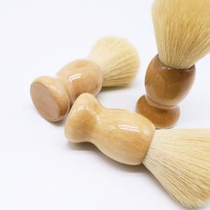 Private Logo JDK Barber Beard cleaning brush Plain  Bristle Shaving brush White OEM  Wood Wholesale brushes shaving