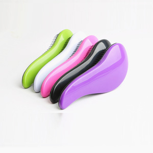 Professional Magic Anti-static Plastic Salon Styling Tool Detangling Handle Tangle Shower Curve TT Princess Comb Hair Brushes