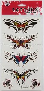 temporary butterfly tatoo sticker body art