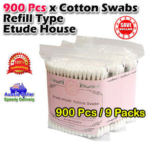 Wooden Handle Disposable 100% Cotton Beauty Swab Bud