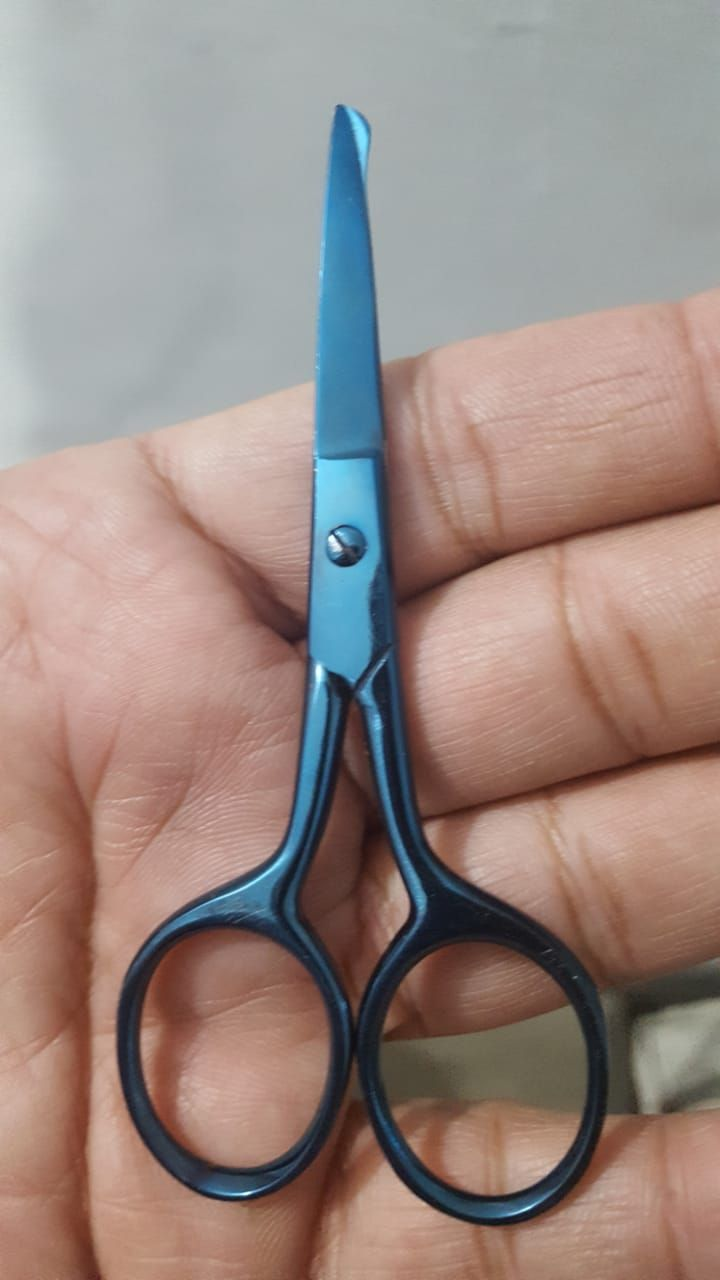 Nasal hair Scissor with serrated edge - 9 cm