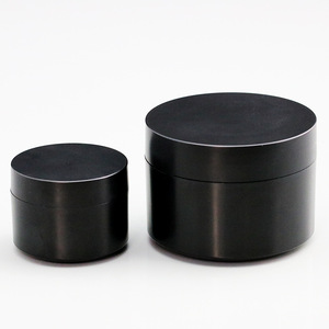 15ml 50ml PP matte black plastic cosmetic jar