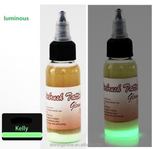 30ml airbrush tattoo ink high quality Bright green luminous ink airbrush nail