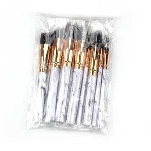 custom 10pcs marble makeup brush pro art high quality