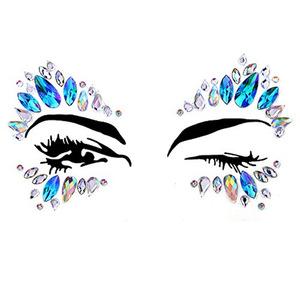 Glitter Mermaid Face Gems Tattoo Body Art Rhinestone Face Stickers