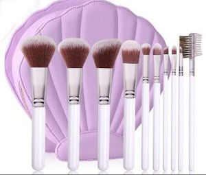 hot seller new arrival 10pcs cosmetic brushes makeup brushes for face