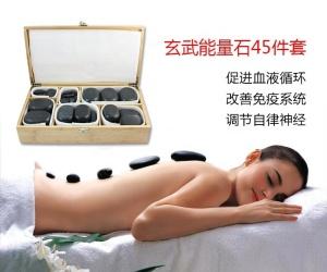 Hot selling black basalt hand made black polished Massage Stone/hot stone heater/hot stone massage set