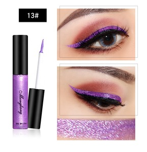 Low MOQ fashion color 13 colors waterproof liquid glitter eyeliner for  cosmetic makeup