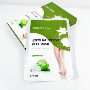 OEM Wholesale Korea Private Label Natural Organic Jasmine Feet Dry Skin Moisturizing Exfoliating Peeling Socks Foot Peel Mask