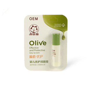 Private Label OEM Natural Organic Moisturizing Olive Baby Kids Lip Balm