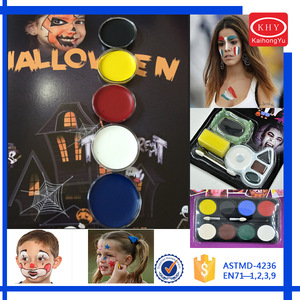 Professional Non-Toxic Hypoallergenic Washable Oil Face Painting Kit  Halloween Makeup Kit Supplies
