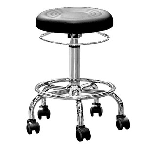 RC10051 cheap plastic step stool/Luxury chair caster ring lever elevating salon stool