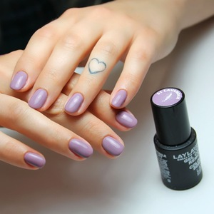 Soak Off Nail Gel Polish Lavender Colour UV/LED Lamp Gel Made in Italy Nail painting