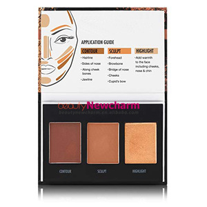 3 Colors Complexion Contour Palette private label Maquillaje Contour Powder Palettes Cosmetics custom vegan makeup  blush