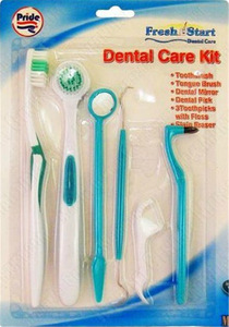 8pcs Dental Cleaning Kit Various Dental Care Products for Oral Hygiene