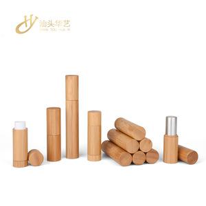Bamboo Lipstick Tube Lip Balm Container