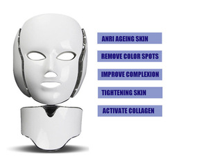 EB FDA approved Anti-aging PDT Beauty Machine 7 Led Light Therapy Face Mask