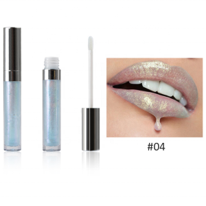Four Colors Private Label Lipgloss Holographic Shimmer Lip Gloss
