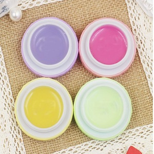 High Quality Makeup Macarons Round candy color Lip Balm Natural Plant lip gloss Lipstick Fruit Embellish Smell Lip Balm