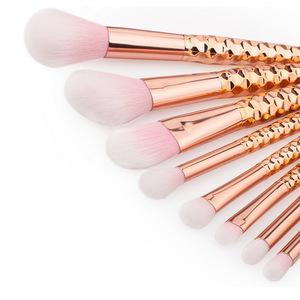 Luxury rose gold 8pcs professional custom logo makeup brushes manufacturer