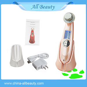 New Portable Photon Ultrasonic Ionic 5 in 1 Facial Skin Care Massage Anti-Wrinkle Beauty Machine