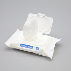 OEM Pre-Moistened Non Woven Flushable Medicated Hemorrhoid Wet Wipes with Witch Hazel and Aloe Vera
