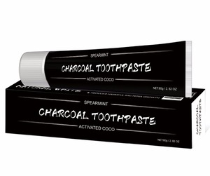 Removes Stains Bad Breath 80ml Fresh Mint Coconut Charcoal Teeth Whitening Black Toothpaste