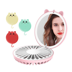 Touch Screen Adjustable Brightness Lucky Cat Led Makeup Mirror