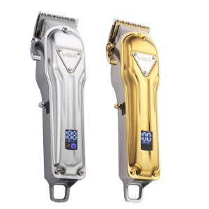 VGR Professional Waterproof Hair Trimmer LCD Display Mens Hair Clipper Grooming Low Noise Clipper VGR