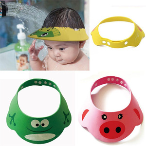 Adjustable Kids Shampoo Bathing Shower Cap Toddler Baby Hat Wash Hair Visor Caps Lovely  For Baby Care