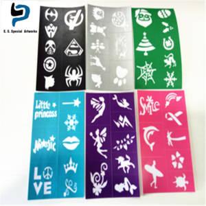 custom size single one reusable PP tattoo stencil for DIY, you choose the design