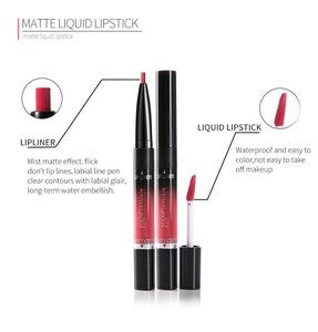 handaiyan  2 in 1 Double ends lip beauty set Lip Liner and  liquid lipstick lipgloss kits