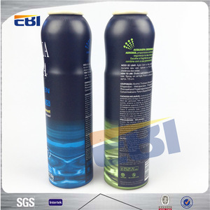 High quality Aluminum aerosol spray foam pump bottle