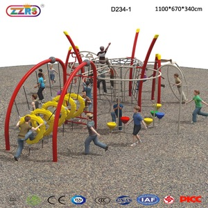 High Quality Outdoor Jungle Gym Equipment With Climbing Rope