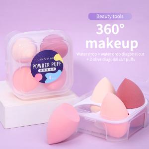 Lameila OEM Custom Beauty Sponge 4pcs Cosmetics Make Up Powder Puff Makeup Sponge Blender With Packaging Box YF219