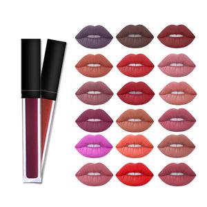 Private Label Your Logo 18 colors Waterproof Matte Non-stick Cup Liquid Lipsticks
