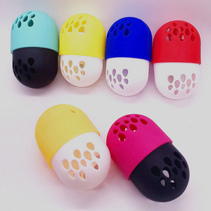 Silicone Glam Drop Beauty Sponge Travel Case - Foundation Sponge Carrying Case Holder -Silicone Makeup Sponge Holder