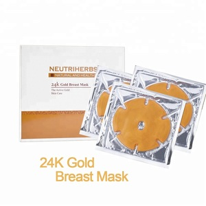 Skin Care Gold Breast Mask With Hyaluronic Acid With Pure Gold Bio-Collagen