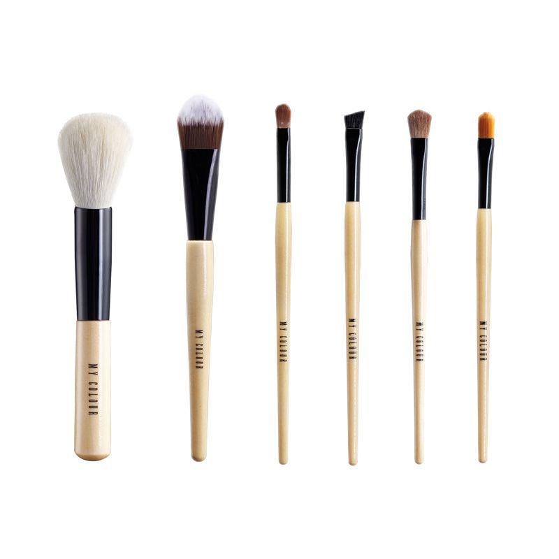 Customized personal label beauty brush Professional high - grade goat mane powder makeup brush 6 packs