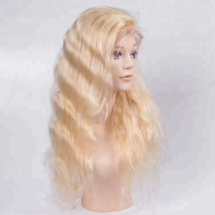 Cutical aligned hair Blonde Lace Front Wig