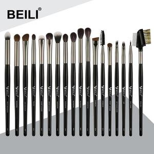 beili pro 18 pcs black makeup brushes tools set kits