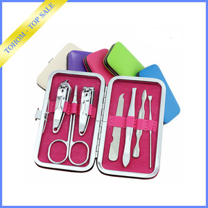 Christmas Holiday Fashion factory price disposable manicure pedicure nail clipper set manicure tools