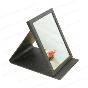 Custom Led makeup vanity mirror with led lights usb foldable cosmetic mirror