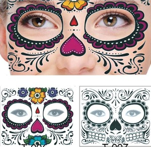 Hot selling Halloween facial stickers / Eyeshadow Sticker / Eye Face Waterproof Temporary Tattoo sticker for Beauty Makeup l